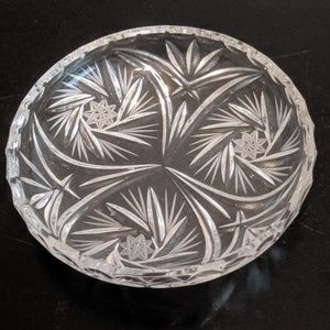 Vintage Crystal Ashtray Approx. 6""